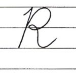 (Re-upload)英語の筆記体を書いてみよう R r Cursive alphabet