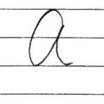 (Re-upload)英語の筆記体を書いてみよう A a Cursive alphabet