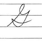 (Re-upload)英語の筆記体を書いてみよう G g Cursive alphabet