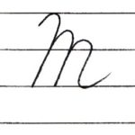 (Re-upload)英語の筆記体を書いてみよう M m Cursive alphabet