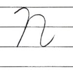(Re-upload)英語の筆記体を書いてみよう N n Cursive alphabet