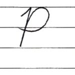 英語の筆記体を書いてみよう P p Cursive alphabet