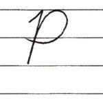 (Re-upload)英語の筆記体を書いてみよう P p Cursive alphabet