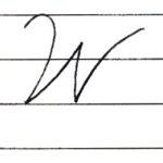 英語の筆記体を書いてみよう W w Cursive alphabet