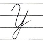 (Re-upload)英語の筆記体を書いてみよう Y y Cursive alphabet