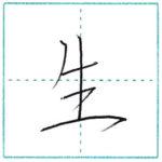 少し崩してみよう 行書 生[sei] Kanji semi-cursive
