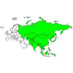 アジア 国と首都の日本語/英語 Asian countries in Japanese / English