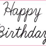 """(再アップ)筆記体で書こう """"Happy Birthday"""" in cursive"""