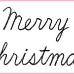 """(再アップ)筆記体で書こう """"Merry Christmas"""" in cursive"""