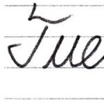 "(Re-upload)筆記体で書こう ""Tuesday"" & ""Wednesday"" in cursive"