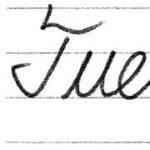 """筆記体で書こう """"Tuesday"""" & """"Wednesday"""" in cursive"""