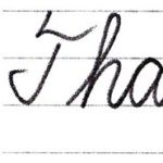 "筆記体で書こう ""Thank you so much"" & ""Thank you very much"" in cursive"
