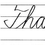 """筆記体で書こう """"Thank you very much"""" in cursive"""