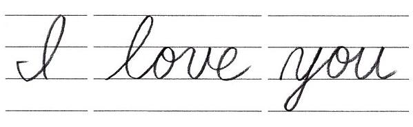 筆記体で書こう I Love You In Cursive
