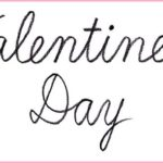 """筆記体で書こう """"Valentine's Day"""" in cursive"""