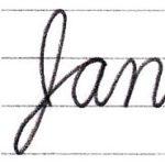 """筆記体で書こう """"January"""" in cursive"""