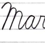 """筆記体で書こう """"March"""" & """"May"""" in cursive"""