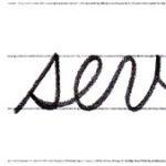 "(Re-upload)短い英単語を筆記体で書いてみよう ""seven"" & ""eight"" in cursive"