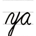 筆記体 小文字 y からのつなげ方 How to connect from cursive y