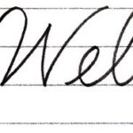 "筆記体で書こう ""Welcome / welcome"" in cursive"