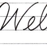 """筆記体で書こう """"Welcome / welcome"""" in cursive"""