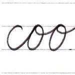 """筆記体で書こう """"book"""" & """"cook"""" in cursive"""