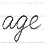 筆記体で書こう age / ago in cursive