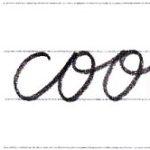 筆記体で書こう cool / wool in cursive