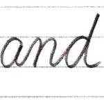 筆記体で書こう and / end in cursive