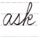 筆記体で書こう ask / sky in cursive
