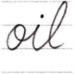 筆記体で書こう oil / ill in cursive