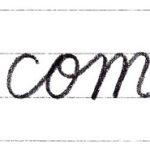 筆記体で書こう come / home in cursive