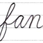 筆記体で書こう fan / fun in cursive