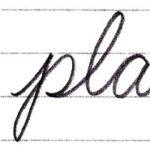 筆記体で書こう pay / play in cursive