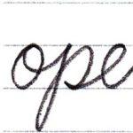 筆記体で書こう pen / open in cursive