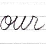 筆記体で書こう our / hour in cursive