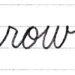 筆記体で書こう row / own in cursive