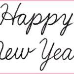 """(再アップ)筆記体で書こう """"Happy New Year"""" in cursive"""