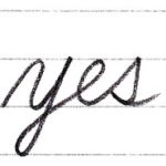 筆記体で書こう yes / yet in cursive