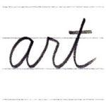 筆記体で書こう art / part in cursive