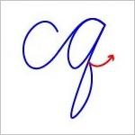 筆記体 2文字のつなげ方詳細版 cq ~ cz Cursive connecting